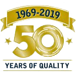 50 years of quality logo